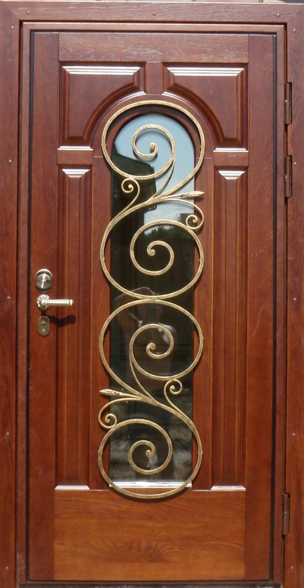 входная металлическая дверь ковка